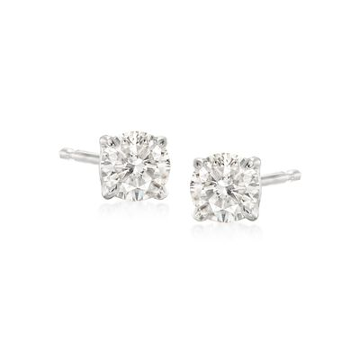 .50 ct. t.w. Diamond Stud Earrings in 14kt White Gold, , default