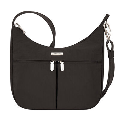 Anti-Theft Essential East-West Black Hobo Bag