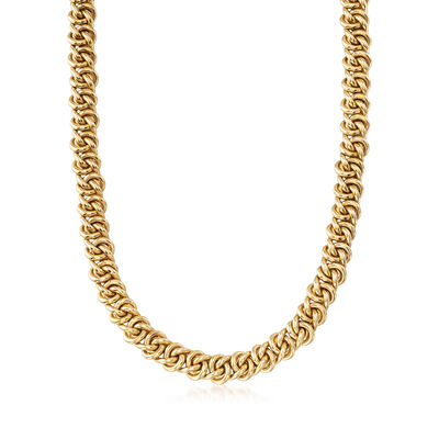 C. 1980 Vintage 18kt Yellow Gold Twisted-Link Necklace, , default