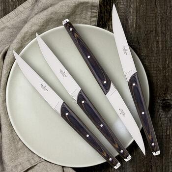 "Argent Orfevres ""Clevedon"" Pakkawood 4-pc. 18/10 Stainless Steel Steak Knife Set, , default"