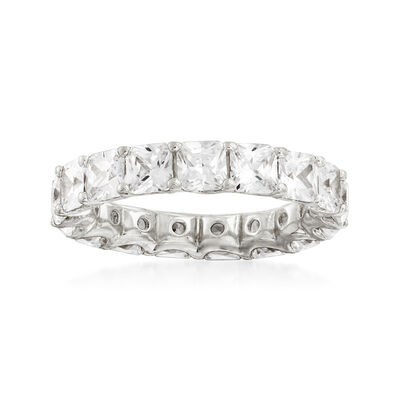 4.25 ct. t.w. CZ Eternity Band in Sterling Silver