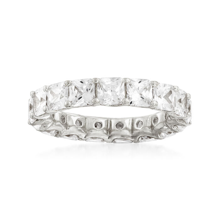4.25 ct. t.w. CZ Eternity Band in Sterling Silver, , default