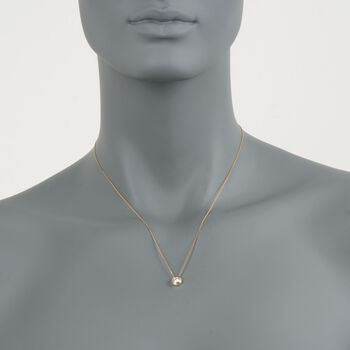 ".25 Carat Double Bezel-Set Diamond Solitaire Necklace in 14kt Yellow Gold. 18"", , default"