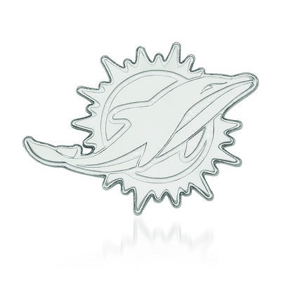 Sterling Silver NFL Miami Dolphins Lapel Pin, , default