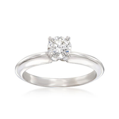 .51 Carat Certified Diamond Solitaire Ring in 14kt White Gold