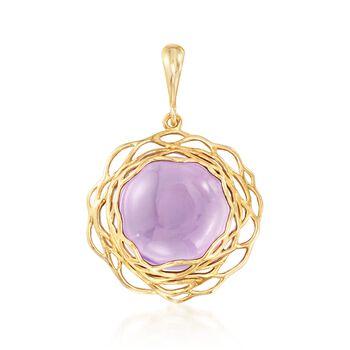 9.00 Carat Purple Amethyst Pendant in 14kt Yellow Gold, , default