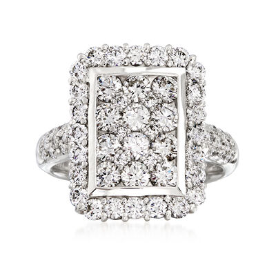 C. 2000 Vintage 2.02 ct. t.w. Diamond Elongated Ring in Platinum, , default