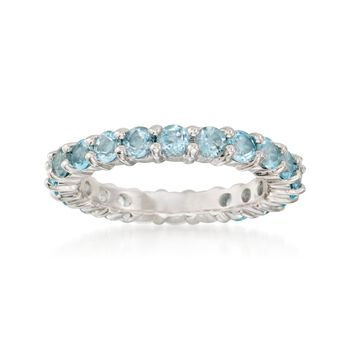 2.60 ct. t.w. Blue Topaz Eternity Band in Sterling Silver, , default
