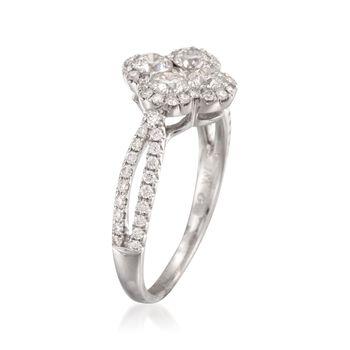 Gregg Ruth 1.00 ct. t.w. Diamond Flower Ring in 18kt White Gold, , default