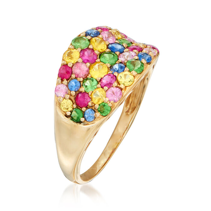 2.50 ct. t.w. Multi-Gemstone Ring in 14kt Yellow Gold