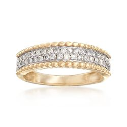 .38 ct. t.w. Pave Diamond Ring in 14kt Yellow Gold, , default