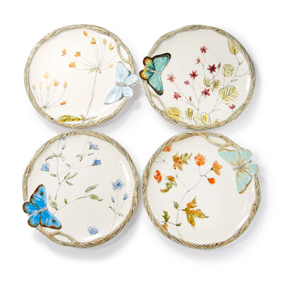 Fitz and Floyd Butterfly Fields Ceramic Brunch Collection