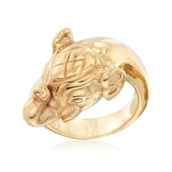 Italian 14kt Yellow Gold Elephant Ring, , default