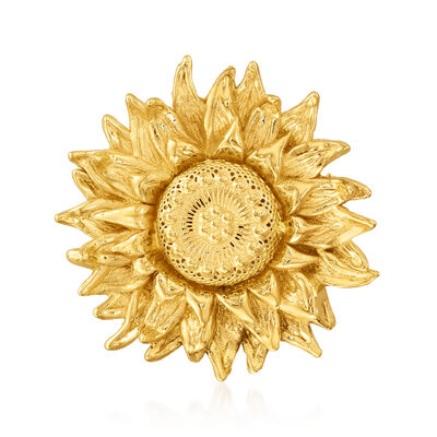 Italian 14kt Yellow Gold Sunflower Pin