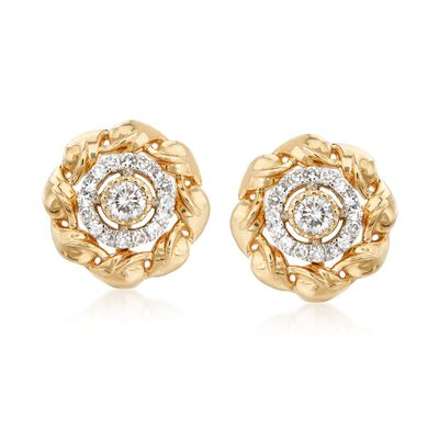 .33 ct. t.w. Diamond Jewelry Set: Earrings and Earring Jackets in 14kt Yellow Gold , , default