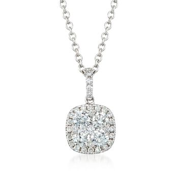 "Gregg Ruth .74 ct. t.w. Diamond Pendant Necklace in 18kt White Gold. 18"", , default"