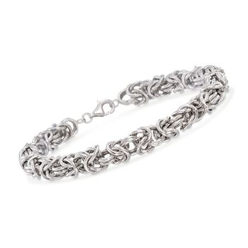 "Men's Sterling Silver Medium Byzantine Bracelet. 8.5"", , default"