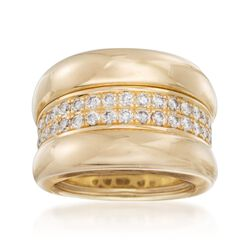 C. 2000 Vintage Chopard .70 ct. t.w. Diamond Ring in 18kt Yellow Gold, , default