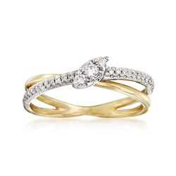 .22 ct. t.w. Diamond Crisscross Ring in 14kt Two-Tone Gold , , default