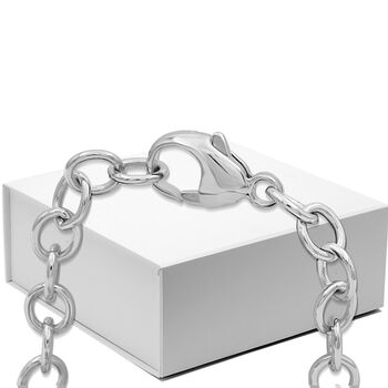 """.20 ct. t.w. Diamond """"Hope"""" Charm Bracelet with Cancer Ribbon in Two-Tone Sterling. 7.5"""", , default"""