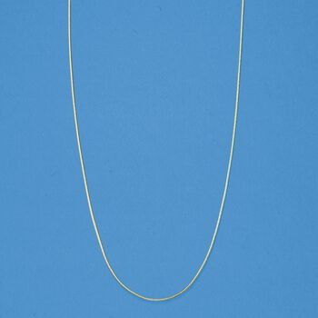 """.8mm 14kt Yellow Gold Adjustable Snake Chain Necklace. 22"""""""