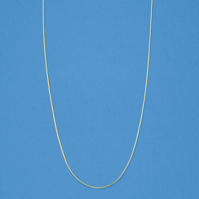 .8mm 14kt Yellow Gold Adjustable Snake Chain Necklace