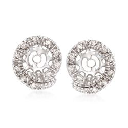 .15 ct. t.w. Diamond Swirl Earring Jackets in 14kt White Gold, , default