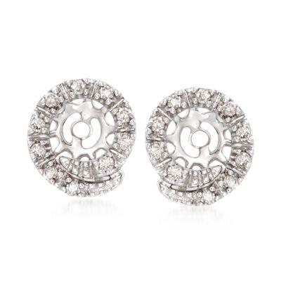 .15 ct. t.w. Diamond Swirl Earring Jackets in 14kt White Gold, , default