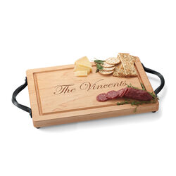 Maple Wood Personalized Rectangular Cutting Board, , default