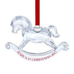 "Swarovski Crystal 2017 Annual ""Baby's 1st Christmas"" Crystal Ornament, , default"