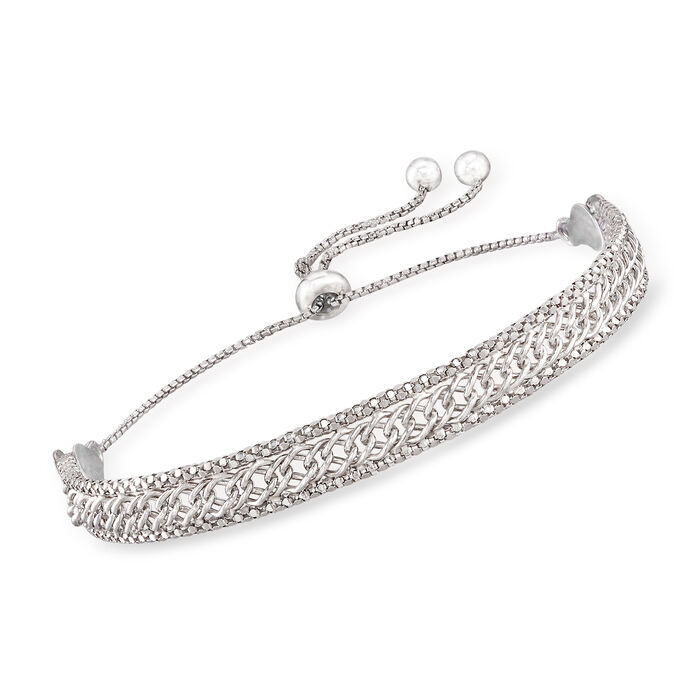 Italian Sterling Silver Multi-Link Bolo Bracelet