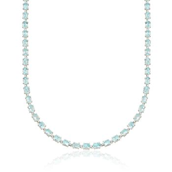 60.00 ct. t.w. Blue Topaz Necklace in Sterling Silver, , default
