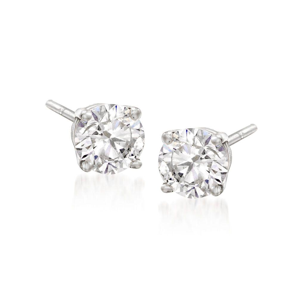 "c46363d3e Swarovski Crystal ""Attract"" Clear Crystal Stud Earrings in  Silvertone, , default"