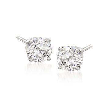 "Swarovski Crystal ""Attract"" Clear Crystal Stud Earrings in Silvertone, , default"