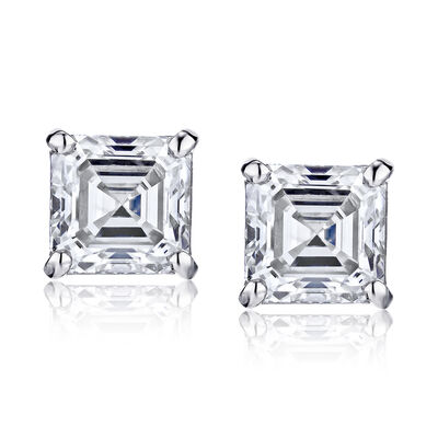 1.90 ct. t.w. Diamond Stud Earrings in 14kt White Gold, , default