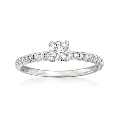 .58 ct. t.w. Diamond Engagement Ring in 14kt White Gold, , default