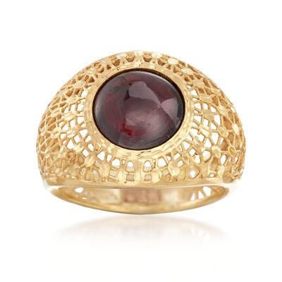 Italian 5.50 Carat Garnet Dome Ring in 14kt Yellow Gold, , default