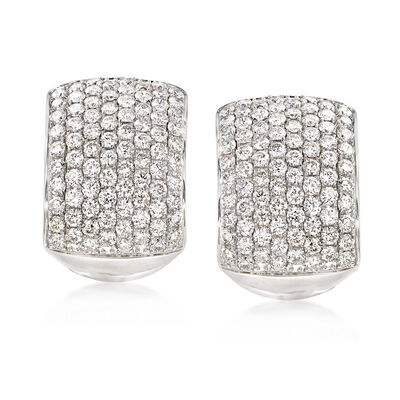 4.95 ct. t.w. Diamond Drop Earrings in 18kt White Gold