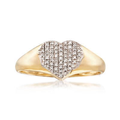 .10 ct. t.w. Diamond Heart Ring in 14kt Yellow Gold, , default
