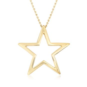 """Roberto Coin 18kt Yellow Gold Star Pendant Necklace. 16"""", , default"""