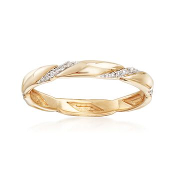 .10 ct. t.w. Diamond Eternity Band in 14kt Yellow Gold, , default