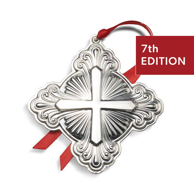 Gorham 2020 Sterling Silver Cross Ornament - 7th Edition