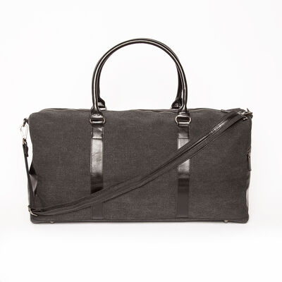 "Brouk & Co. ""Excursion"" Black Waxed Canvas Duffle Bag, , default"