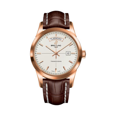 Breitling Transocean Day-Date Men's 43mm 18kt Rose Gold Watch