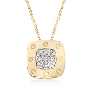 """Roberto Coin """"Pois Moi"""" .25 ct. t.w. Diamond Pendant Necklace in 18kt Two-Tone Gold. 16"""", , default"""