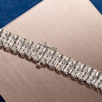 1.10 ct. t.w. Diamond Bar Bracelet in Sterling Silver