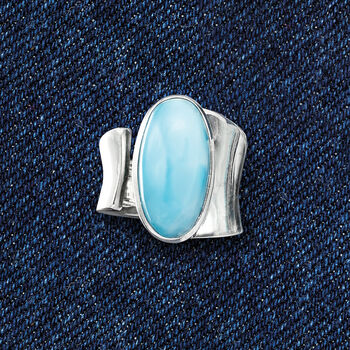 Larimar Wrap Ring in Sterling Silver