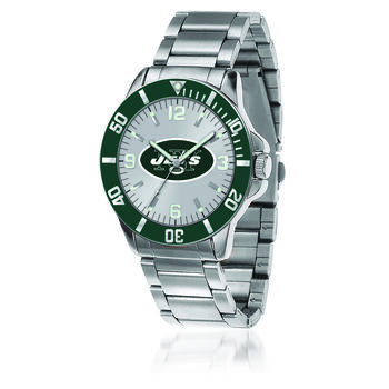 Men's 46mm NFL New York Jets Stainless Steel Key Watch, , default