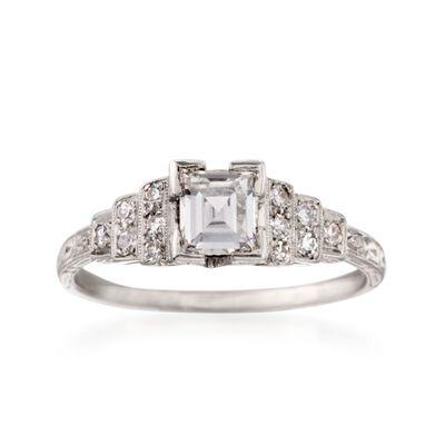 C. 1990 Vintage .71 ct. t.w. Diamond Engagement Ring in Platinum, , default