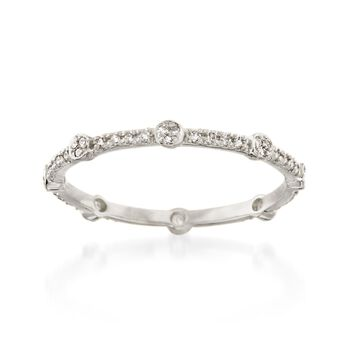 .16 ct. t.w. Diamond Eternity Band in 14kt White Gold, , default